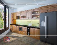 Tủ bếp gỗ Lát TBGL103