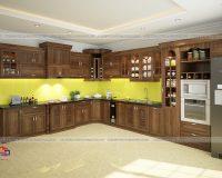Tủ bếp tân cổ điển TBTCD039