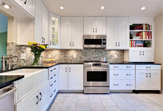 Không gián phòng bếp nhà biệt thự theo lối kiến trúc tân cổ điển