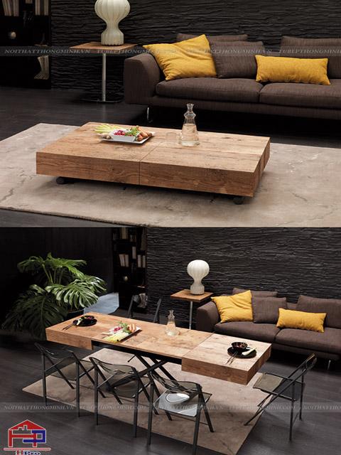 Mẫu bàn ăn cho phòng khách nhỏ có thiết kế thông minh