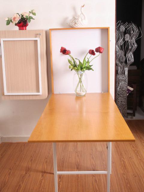 Mẫu bàn ăn cho phòng bếp nhỏ với thiết kế cực kì thông minh cho 4 - 6 người ngồi ăn.