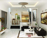 Thiết kế phòng khách và bếp thông nhau sang trọng, lịch sự, chi phí thấp