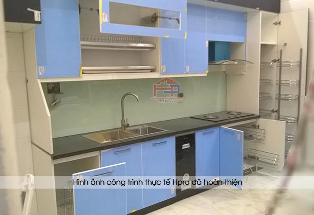 Hình ảnh thực tế tủ bếp acrylic an cường nhà anh Diện - Phú Thọ