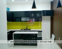 Ảnh thực tế tủ bếp acrylic nhà anh Mạnh - Sơn La