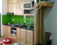 Ảnh thực tế tủ bếp gỗ sồi nga nhà anh Hoàng- Chung cư Athena Xuân Phương