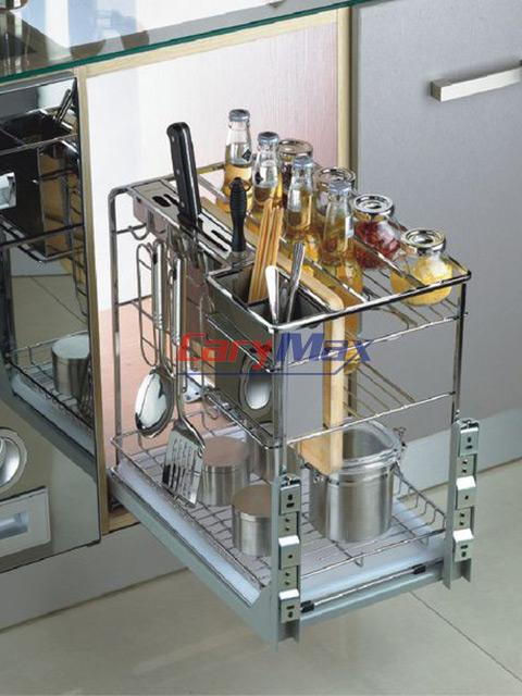 Giá để dao thớt trong tủ bếp - inox 304 nhập khẩu dạng sợi