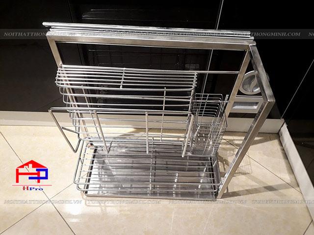 Giá để dao thớt tủ bếp hàng sản xuất inox 201