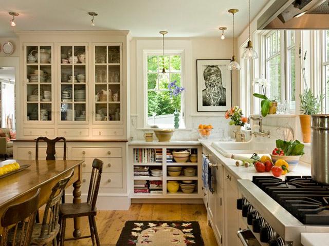 Nhà bếp đẹp phong cách đồng quê mang hơi thở từ thiên nhiên trong lành