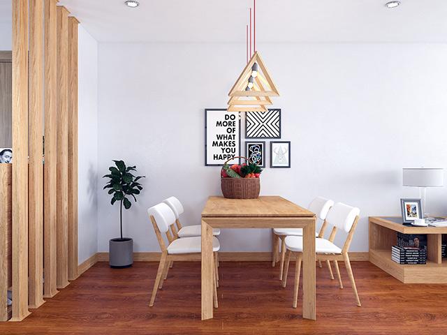 Nội thất gõ sồi nga tự nhiên - Bộ bàn ăn thiết kế nhỏ gọn theo phong cách Bắc Âu