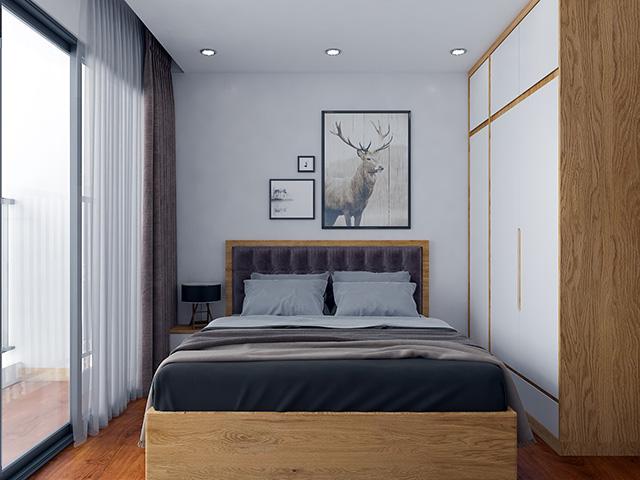 Nội thất gõ sồi nga tự nhiên- Giường ngủ phòng master