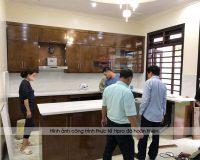 Tủ bếp Việt Trì miễn phí thiết kế, đo đạc tư vấn tận nơi