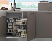 Tìm hiểu phụ kiện tủ bếp kệ góc liên hoàn Cariny