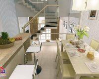 Nhà bếp trên lầu – Một số lưu ý phải quan tâm khi thiết kế nhà bếp trên lầu