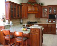 Tủ bếp gỗ hương Lào 100% bền đẹp, giá cạnh tranh