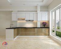 Tủ bếp bằng gỗ nhựa dùng có tốt không?
