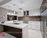 10 mẫu tủ bếp gỗ mặt đá được ưu chuộng nhất hiện nay