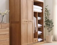 Tủ quần áo gỗ tự nhiên cánh lùa – thiết kế thông minh tiết kiệm diện tích