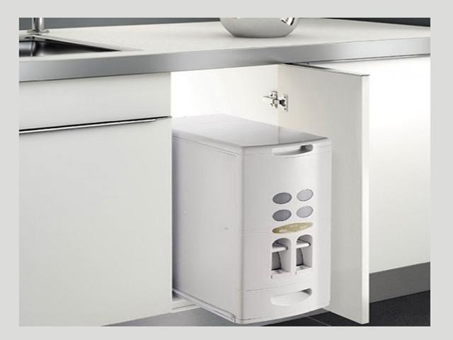 Những lý do bạn nên sử dụng thùng gạo âm tủ bếp