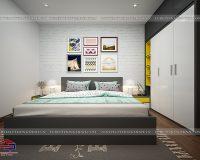 Thiết kế nội thất căn hộ 56m2 2 phòng ngủ khoa học, hợp lý