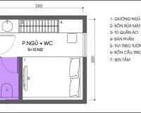 Một vài cách thiết kế phòng ngủ nhỏ 10m2 dễ ứng dụng nhất