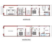 Thiết kế nhà đẹp 2 tầng 3 phòng ngủ đơn giản cùng Hpro