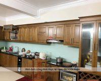Công trình tủ bếp gỗ sồi mỹ nhà chị Thập – Thủy Nguyên, Hải Phòng