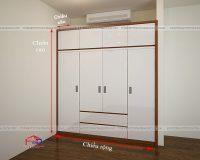 Kích thước tủ quần áo âm tường thông thường hợp lý nhất