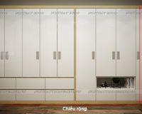 Tư vấn thiết kế thi công mẫu tủ quần áo 6 buồng đẹp với KTS tại nội thất Hpro