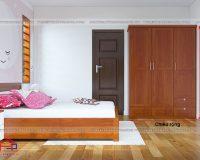 Mẫu tủ quần áo gỗ xoan đào đẹp giá rẻ không ngờ