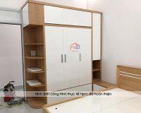 Mẫu tủ quần áo gỗ ép 2 buồng đẹp mang tính ứng dụng cao