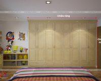 Mẫu tủ quần áo gỗ sồi nga đẹp giá rẻ chất lượng cao