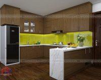 Tủ bếp gỗ sồi Mỹ TBSM241