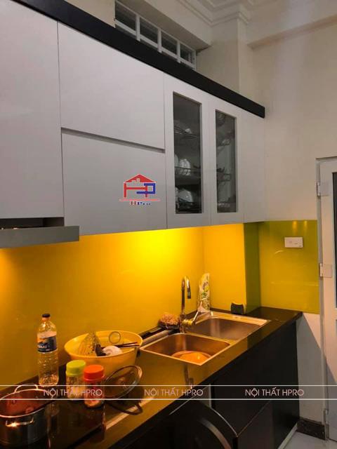 Hình ảnh thực tế tủ bếp laminate nhà chị Vân