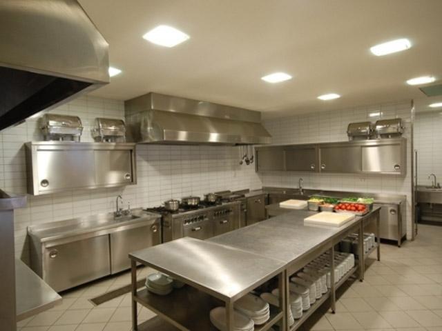 Thiết kế bếp nhỏ nhà hàng hiện đại