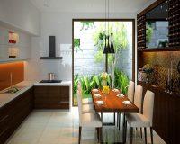 Thiết kế nội thất phòng bếp nhà vườn chuẩn bạn đã biết?