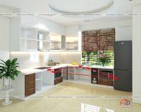 Thiết kế bếp tủ lạnh chuẩn phong thủy đón tài lộc vào nhà