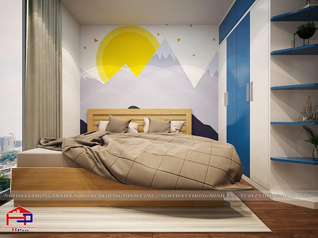 Thiết kế nội thất phòng ngủ cho bé trai nhà chị Hường - view 1