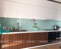 Công trình tủ bếp acrylic và nội thất gỗ An Cường nhà anh Bình – Hồng Hà Ecocity