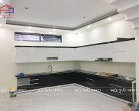 Công trình tủ bếp gỗ acrylic nhà anh Long – Vĩnh Yên