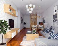 Thiết kế nội thất chung cư gỗ tự nhiên chất lượng cao 100% không pha tạp chất