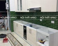 Hoàn thiện công trình tủ bếp acrylic nhà anh Hùng – Lê Văn Lương