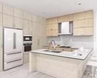 26 mẫu tủ bếp nhựa laminate thông minh cho căn bếp hiện đại, tiện ích