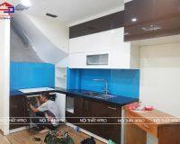 Hoàn thiện công trình tủ bếp acrylic nhà anh Đức – Tân Xuân