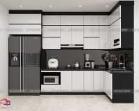 Công trình tủ bếp acrylic thùng inox 304 nhà anh Phương – Tân Tây Đô