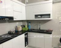 Công trình tủ bếp acrylic nhà bác Lan – Dương Nội – Hà Đông
