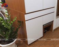 Công trình tủ bếp gỗ sồi mỹ và tủ giày nhà anh Minh – Chung cư CT36 Xuân La