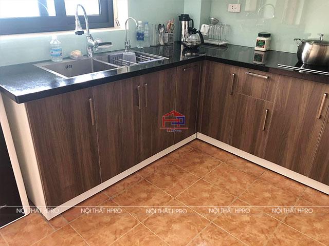 Hình ảnh thực tế công trình tủ bếp laminate TBLM135