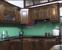 Công trình tủ bếp gỗ sồi Mỹ nhà anh Hùng – 8b ngõ 68 Nguyễn Khánh Toàn