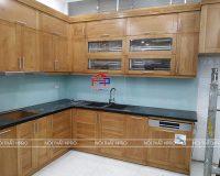 Công trình tủ bếp gỗ sồi mỹ nhà anh Ty – Giang Văn Minh