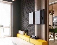 Kệ tivi ngăn phòng khách và bếp – ấn tượng từ cái nhìn đầu tiên